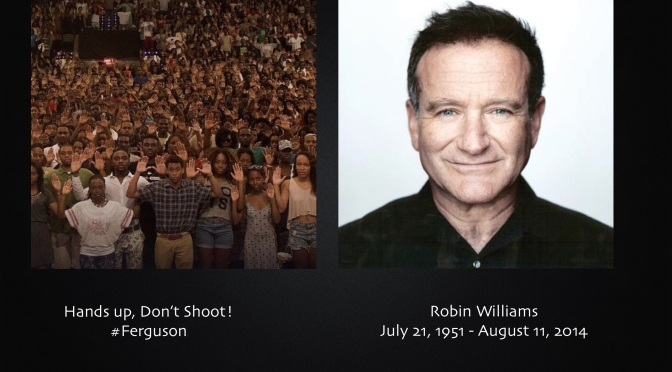 A Sermon on Ferguson, Robin Williams and the Canaanite Woman
