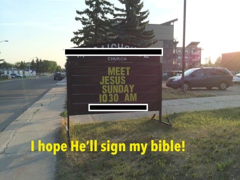 Sign my bible
