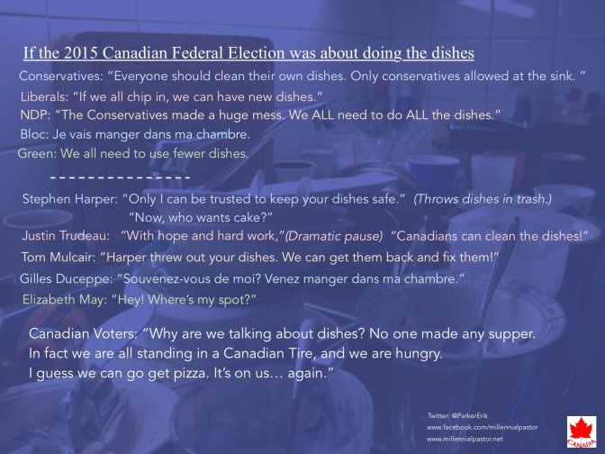 If the 2015 Canadian Federal Election was about doing the dishes