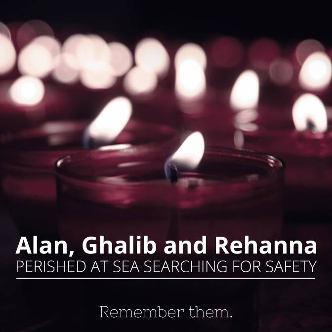 When our words are weak – A Lament for Alan, Ghalib and Rehanna Kurdi
