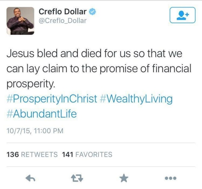 Creflo Dollar, Last Rites and the Rich Young Ruler