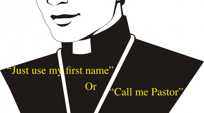 Clerical Collars and Ecclesiastical Titles: 5 Reasons they are needed in the Church