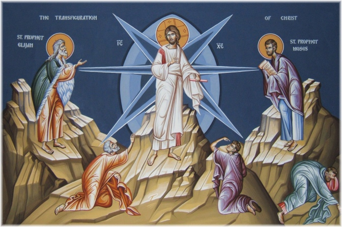 Carrying our burdens up the mountain of  Transfiguration
